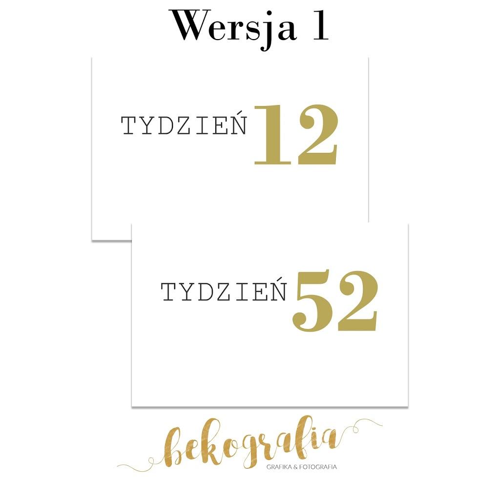 Karty z numerami tygodni po polsku
