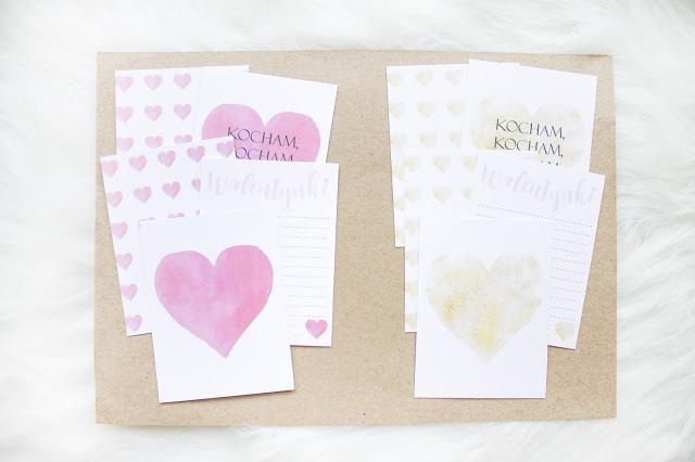 Walentynkowe karty do Project Life