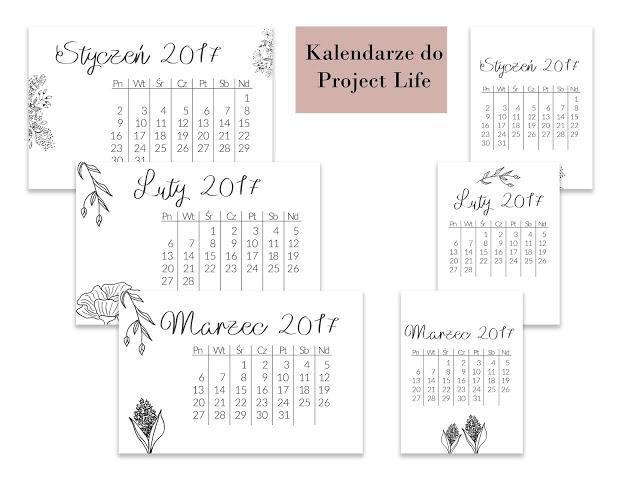 Kalendarze do Project Life