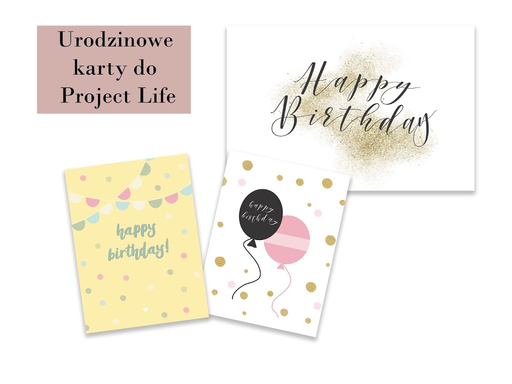 Darmowe karty do Project Life (kalendarze, walentynki, urodziny)