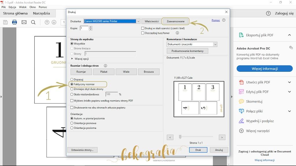 Instrukcja drukowania kart z pliku pdf
